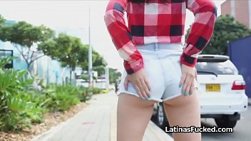 Big ass Latina teen on top of a big cock