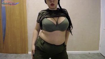 Lady Soldier Need Sex - Hard Play Pussy with Dildo