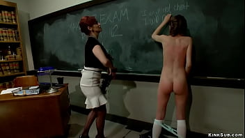Cheating lesbian student anal fucked
