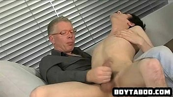 Mature and young gay blowjobs - Young hunk sucking on an old mans rock hard cock