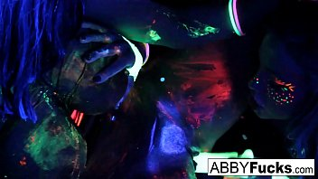 Sex blacklight Black light rainy night with abigal mac ava addams