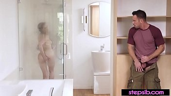 Filthy stepsis attracts stebro to the shower for a fuck