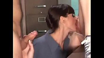 Young Couple and bisex woman. Tasty pussies