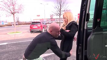 Kidnapped spanish blonde spread her legs anyway for horny stranger