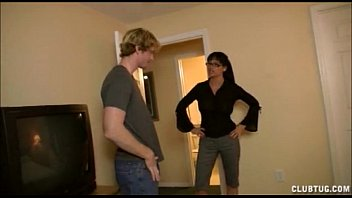 Angry Milf Jerks Off A Young Dude