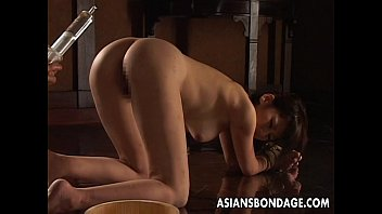 Japanese cinemagic bondage piss xxx video - Nasty asian tied up babe gets to be pussy treated