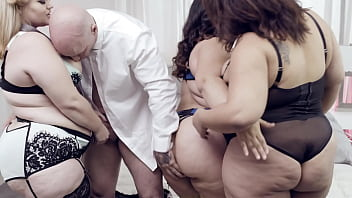 Rare BBW Orgy With 3 Oversized Cuties And A Hung Gentleman - Karla Lane, Mazzaratie Monica, Cayenne Amor