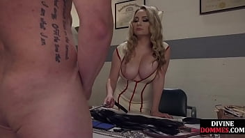 Domina whips and queens pathetic patient before fingering