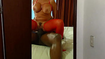 Beautiful big tits hot wife has interracial sex with huge bbc