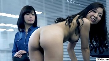 JAV casting mother watches daughter strip for audition