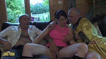 Group of 8 fucking in the living room of house. Young and old, chubby brunette lesbians and thin blondes. thumbnail