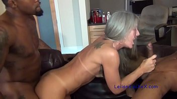 My TV is Broke - Milf Interracial Threesome