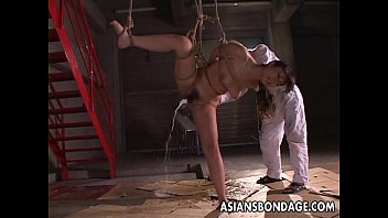 Bondage rope breast japanese - Kinky asian babe in bondage receives a nasty dildo