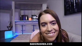 petite teen stepdaughter jill kassidy fucked by stepdad on family couch pov