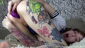 Streaming Video School girl tattoo Hellia Yeah gets cream pie after double dildo - XLXX.video
