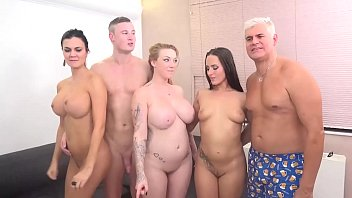 FUCK A FAN Jasmine Jae, Mea Melone and Harmony Reigns Triple Team Czech Guy!