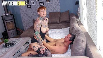 AMATEUR EURO - Tattooed German Lady Kinky Cat Gets Rough Sex From Lover