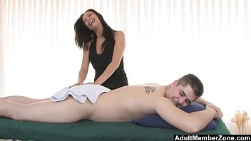 AdultMemberZone – Masseuse decides to have fun with her next client