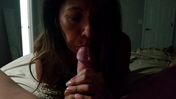 """I want that cum in my mouth""...Some runs down his cock before I clean it up and suck him dry"