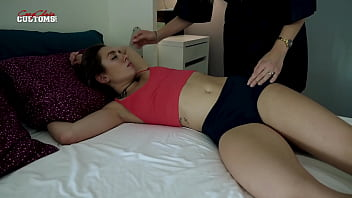 Naked Limp and Cute Step Daughter - Bailey Base 12 min