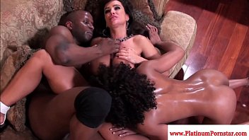 Lisa Ann and Misty Stone interacial threeway