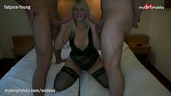 MyDirtyHobby - Busty blonde babe picked up and fucked by two friends