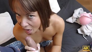 HUNT4K. Tricky guy fucks for cash hot chick who needed accommodation