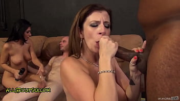 SARA JAY's PAWG ORGY with GINGER Kimber, PERFECT TITS Amber & FIVE MISFITS! – Part 1 of 2