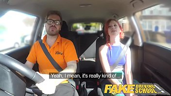 Image: Fake Driving School Instructor fucks and creampies sexually frustrated redhead