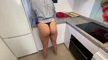 My best friend won't let me finish the dishes and fuck my pussy
