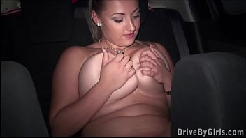 PUBLIC orgy with Krystal Swift through a car window
