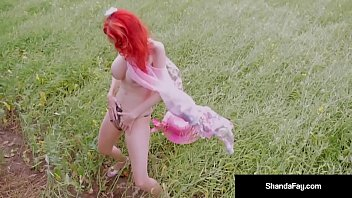 Hot Wife Shanda Fay, Braves a Storm while Deep Throating Her Hubby's Long Cock in a Prairie! Wind & Rain begin but Shanda Gets Her Load Just in Time! Full Video & Live @ ShandaFay.com!