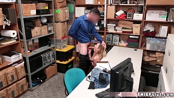 Pretty blonde caught in the shopping mal and fucked