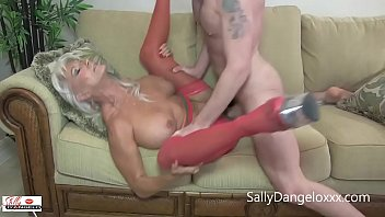 young guys with big cocks  plus one mature MILF  equals hot fantasy SEX  Sally D'angelo