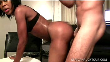 Souh african ass - Young round ass african takes it hard on all fours