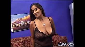 busty indian Vanessa fucks a cock for cum