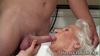 Old wrinkly tits - Wrinkly old lady gets plowed and spermed