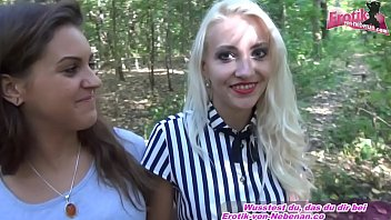 german tourist teen public pick up and make foursome in forest MMFF
