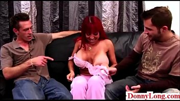 Donny Long tag teams giant titty attention whore milf and teaches her a lesson - 69VClub.Com