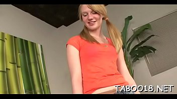 Spicy teen with glasses showing how to engulf a palpitating shaft