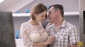 OLD4K. Old male and young colleen have dirty fun in expensive house