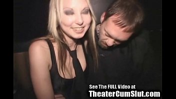 Dallas texas sex club theater Cum slut zoe gets jizz coated creampied in public porn theater