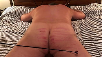 Gay caning discipline - H0711 receives 5 series of 12 lashes of crops and canes