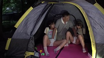2 Young Japanese Teens Fucked By Leader On Camping Trip - IPPA 040010