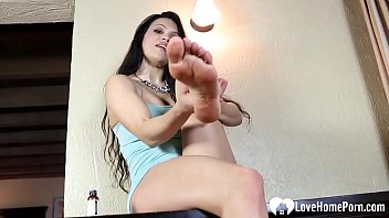 Worship her feet and she'll give you attention