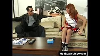 Streaming Video There's nothing sexier than seeing an innocent cheerleader getting taken advantage of by an older man - XLXX.video