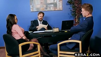 Buttplugged coworker babe loves anal sex in the office 7 min
