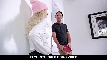 FamilyStrokes - Stepbro Blackmails Hot Blonde Into Fucking