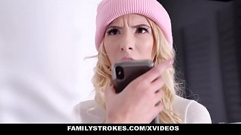 FamilyStrokes - Stepbro Blackmails Hot Blonde (Kenzie Reeves) Into Fucking