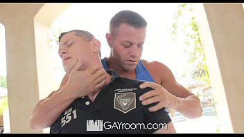 HD GayRoom - Cute guy has his dick jerked off during massage